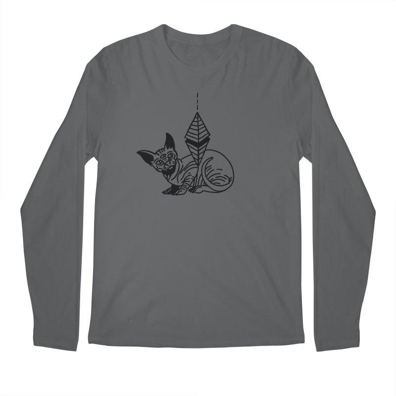 Gato esfinge (black line) Men's Regular Longsleeve T-Shirt by Ertito Montana