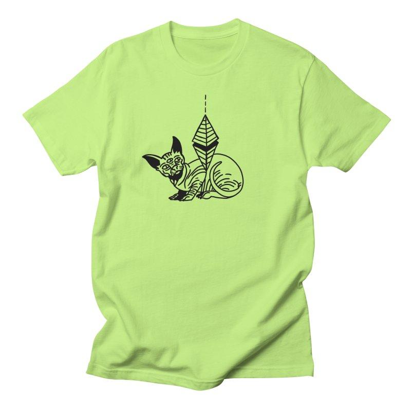Gato esfinge (black line) Women's Regular Unisex T-Shirt by Ertito Montana