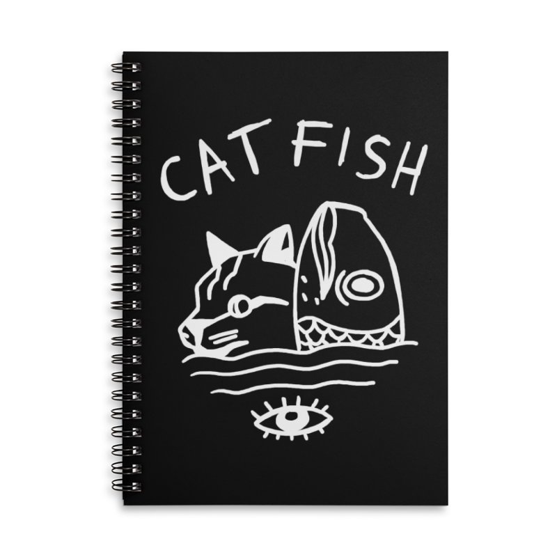 Catfish Accessories Lined Spiral Notebook by Ertito Montana