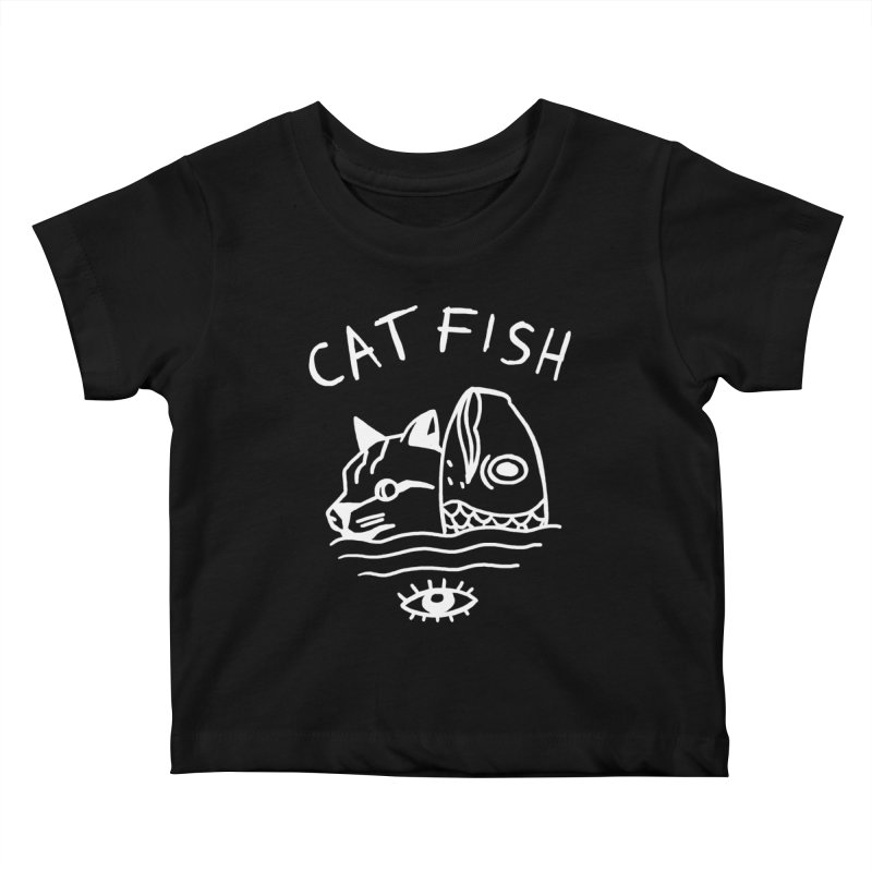 Catfish Kids Baby T-Shirt by Ertito Montana