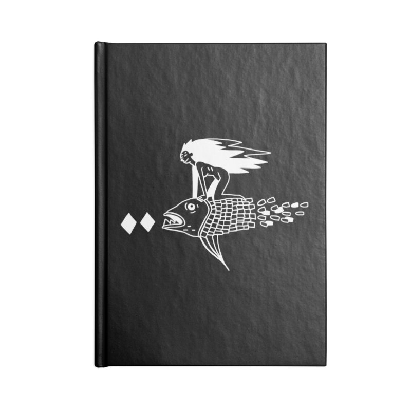 Pez volador Accessories Lined Journal Notebook by Ertito Montana
