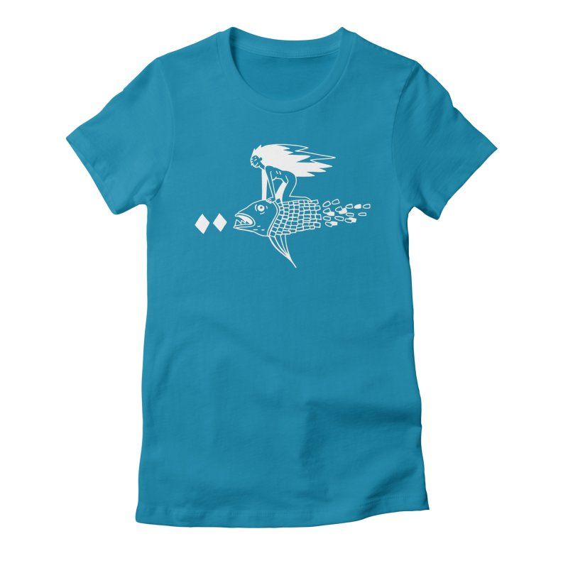 Pez volador Women's Fitted T-Shirt by Ertito Montana