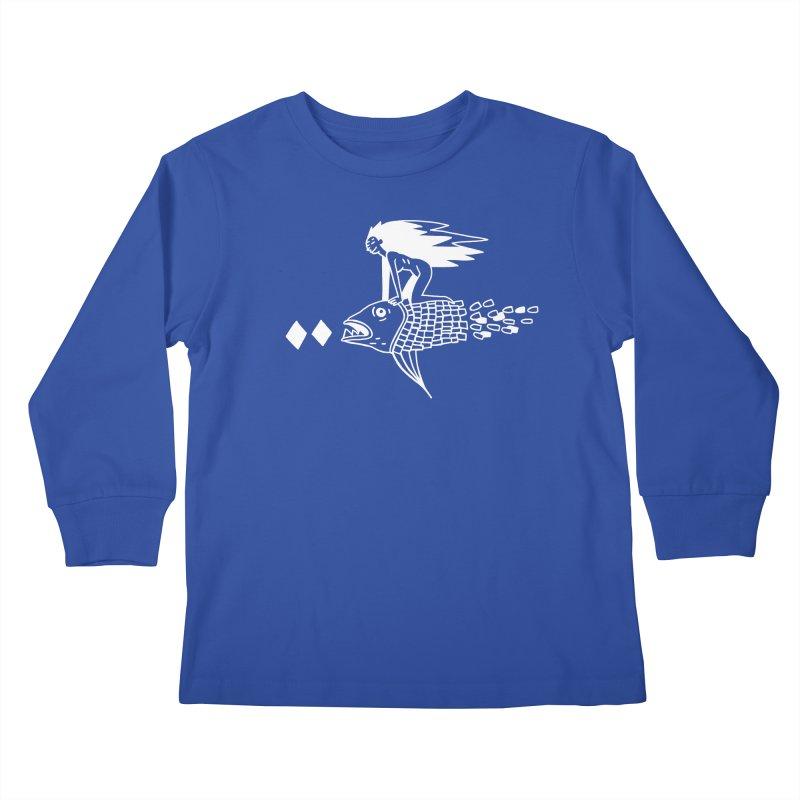 Pez volador Kids Longsleeve T-Shirt by Ertito Montana