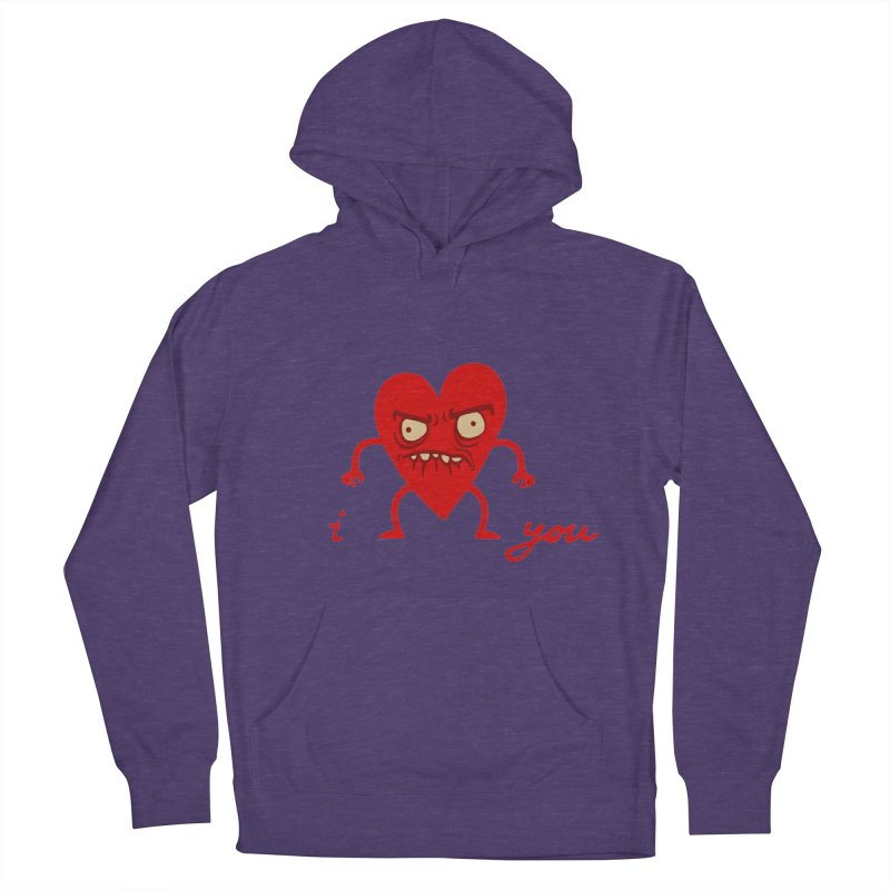 i HEART you Men's French Terry Pullover Hoody by My Life is a Patchwork of Regrets