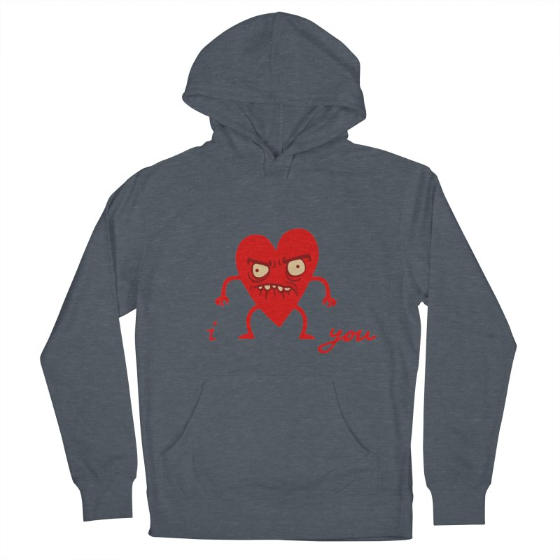 i HEART you Men's Pullover Hoody by My Life is a Patchwork of Regrets