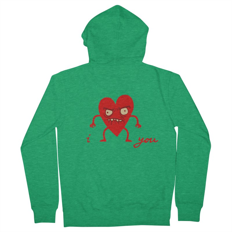 i HEART you Women's Zip-Up Hoody by My Life is a Patchwork of Regrets