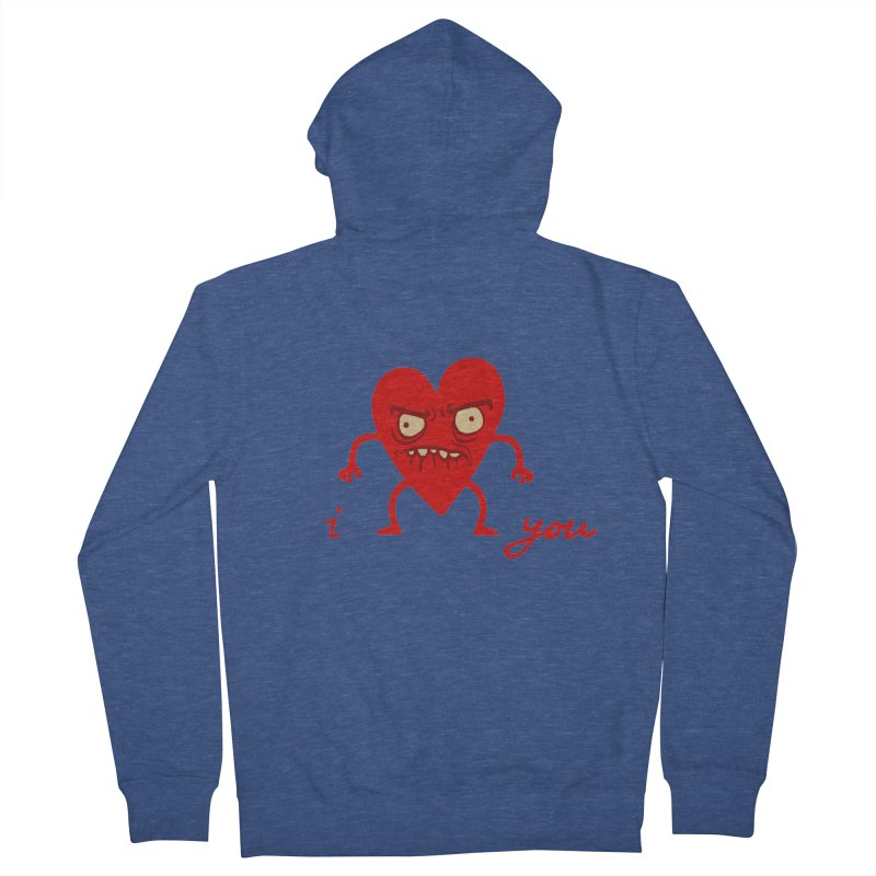 i HEART you Women's French Terry Zip-Up Hoody by My Life is a Patchwork of Regrets