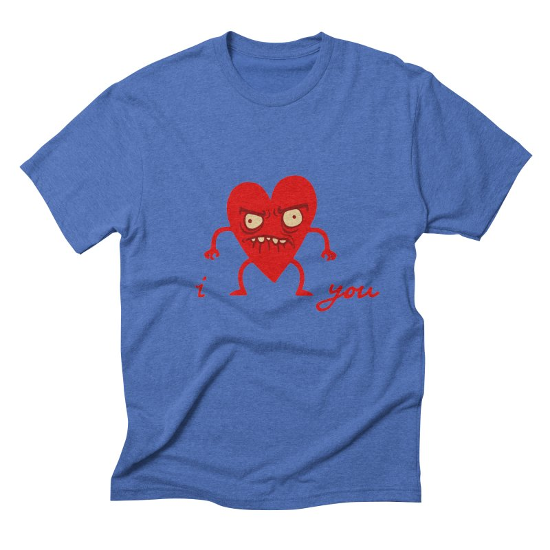 i HEART you Men's Triblend T-Shirt by My Life is a Patchwork of Regrets