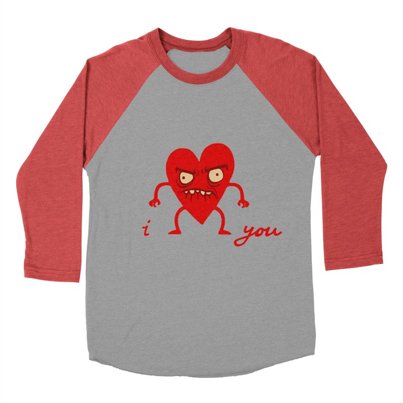 i HEART you Men's Baseball Triblend T-Shirt by My Life is a Patchwork of Regrets