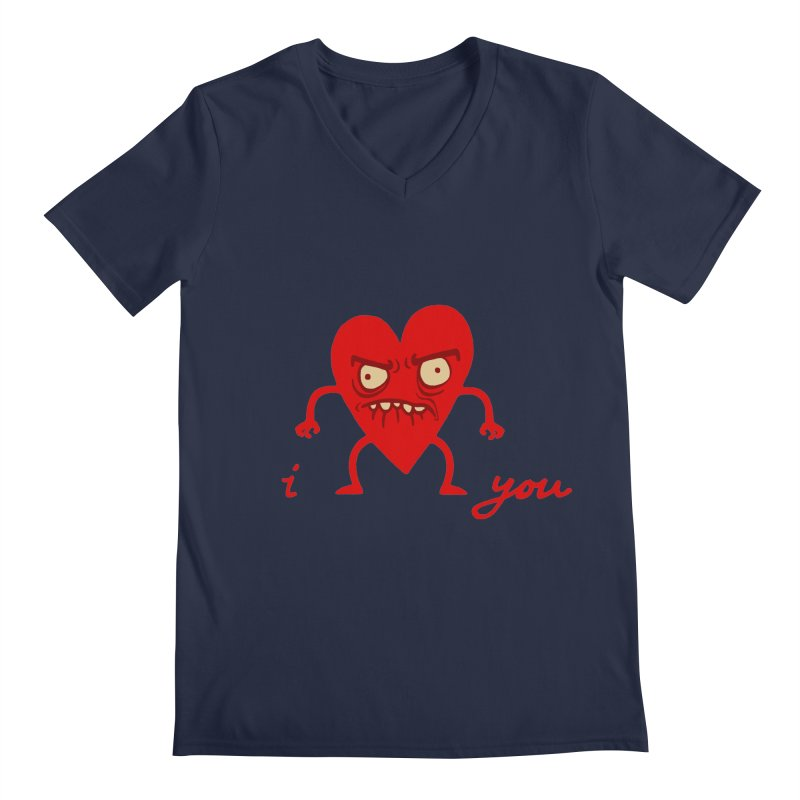 i HEART you Men's Regular V-Neck by My Life is a Patchwork of Regrets
