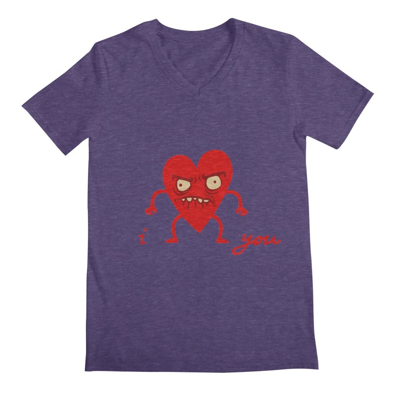 i HEART you Men's V-Neck by My Life is a Patchwork of Regrets