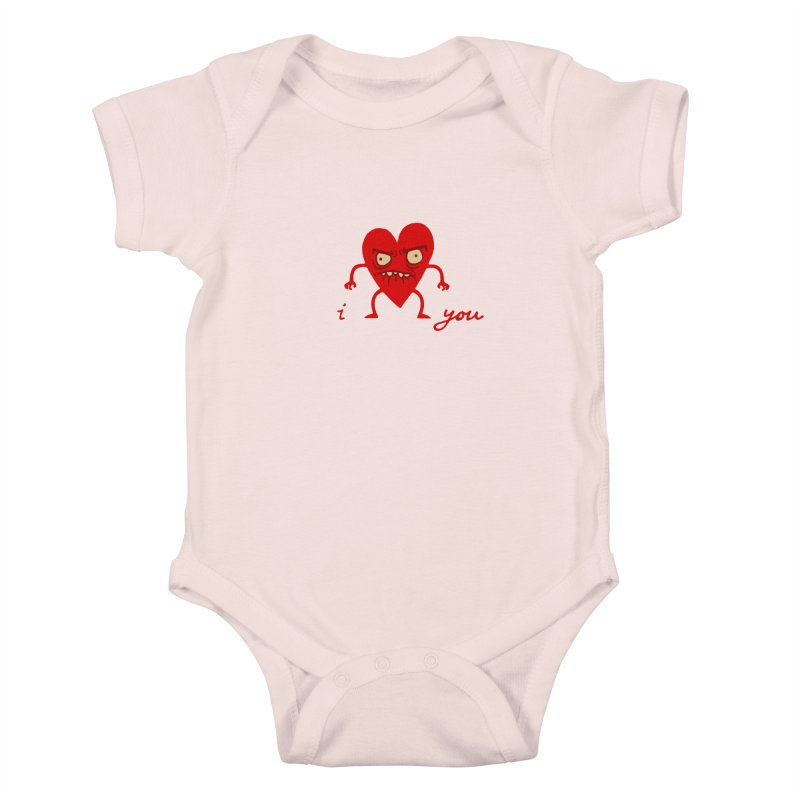 i HEART you Kids Baby Bodysuit by My Life is a Patchwork of Regrets