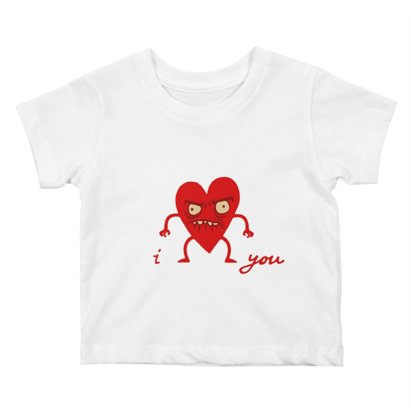 i HEART you Kids Baby T-Shirt by My Life is a Patchwork of Regrets
