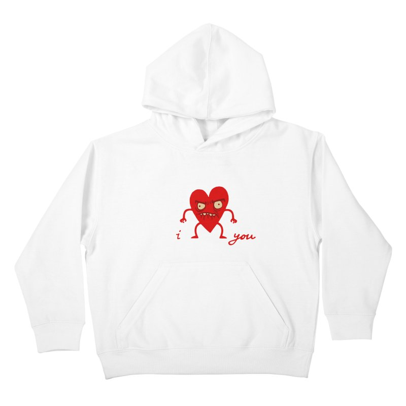 i HEART you Kids Pullover Hoody by My Life is a Patchwork of Regrets