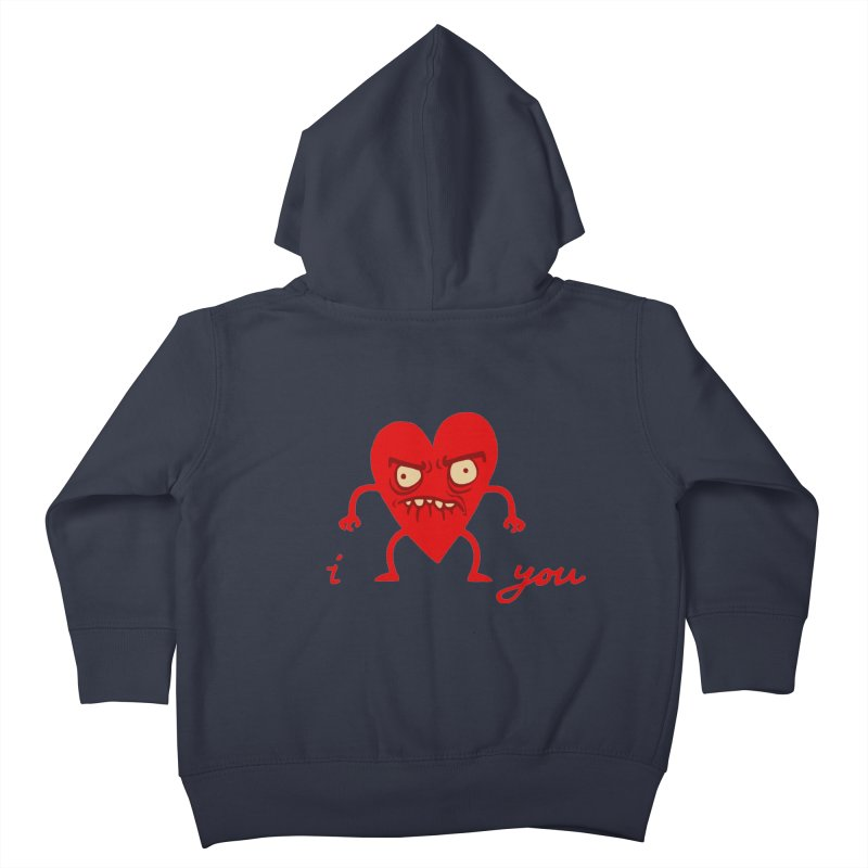 i HEART you Kids Toddler Zip-Up Hoody by My Life is a Patchwork of Regrets