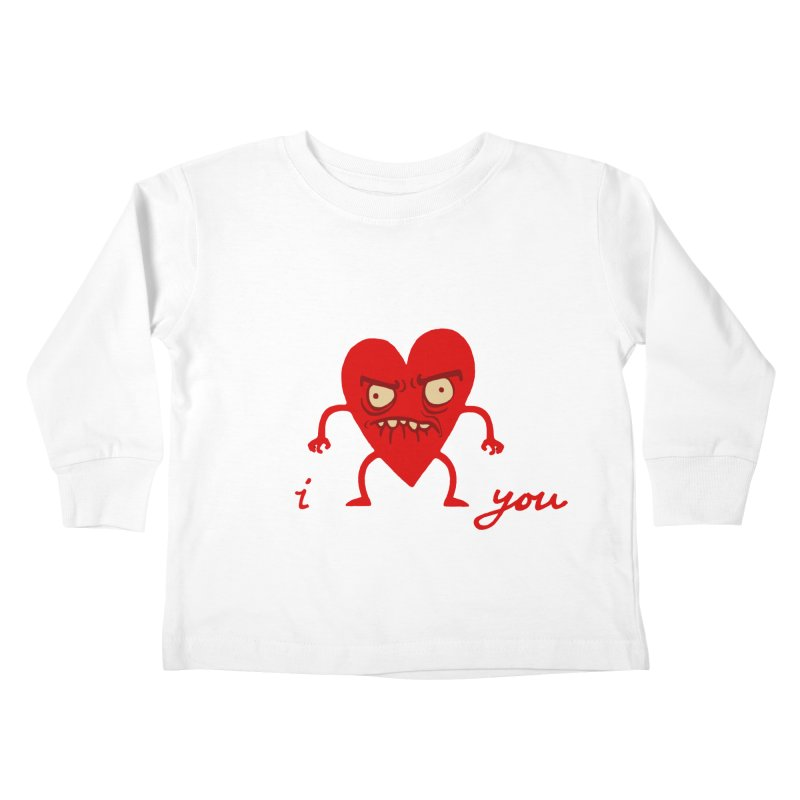 i HEART you Kids Toddler Longsleeve T-Shirt by My Life is a Patchwork of Regrets