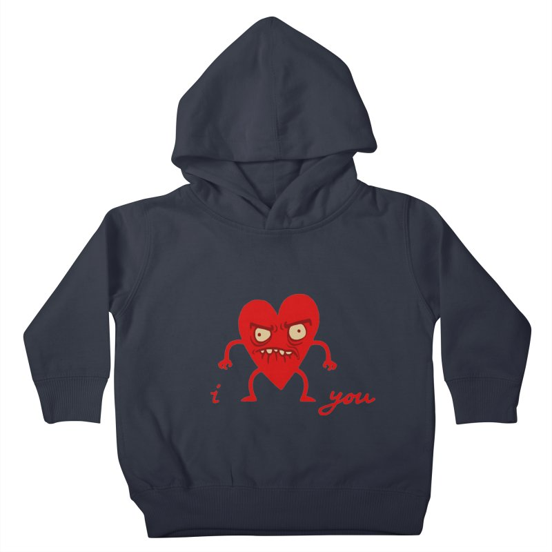 i HEART you Kids Toddler Pullover Hoody by My Life is a Patchwork of Regrets