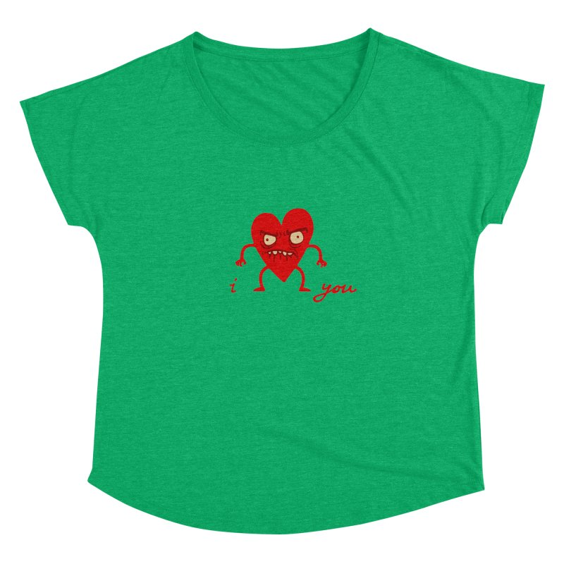 i HEART you Women's Dolman by My Life is a Patchwork of Regrets
