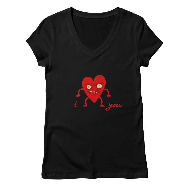 i HEART you Women's Regular V-Neck by My Life is a Patchwork of Regrets