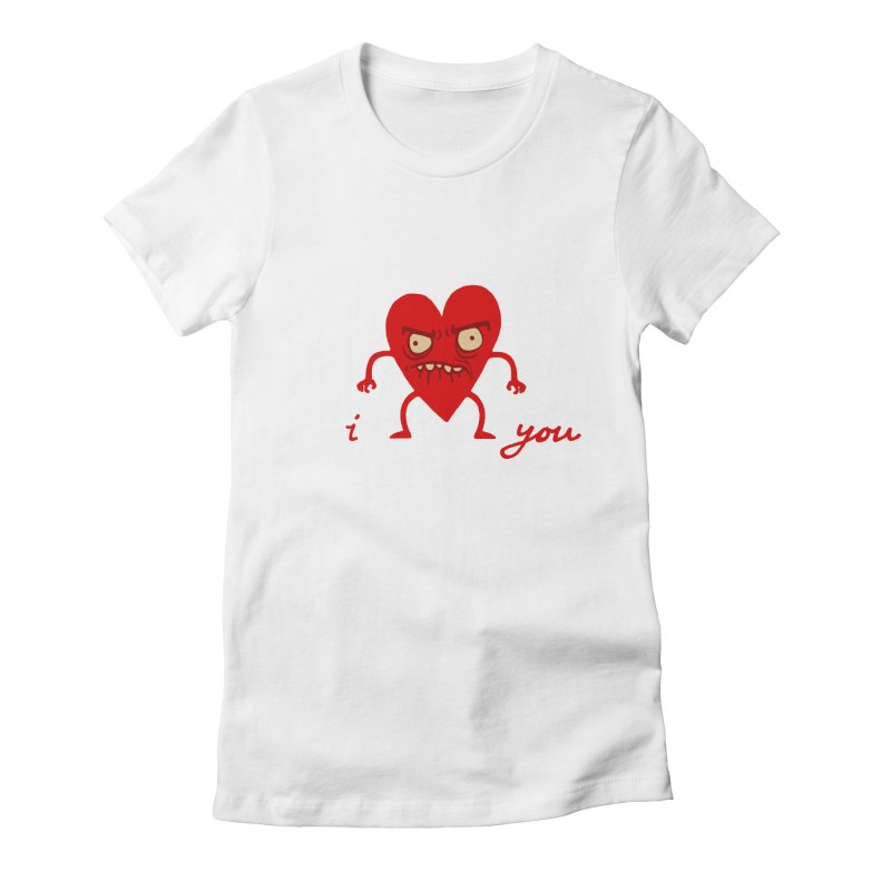 i HEART you Women's Fitted T-Shirt by My Life is a Patchwork of Regrets