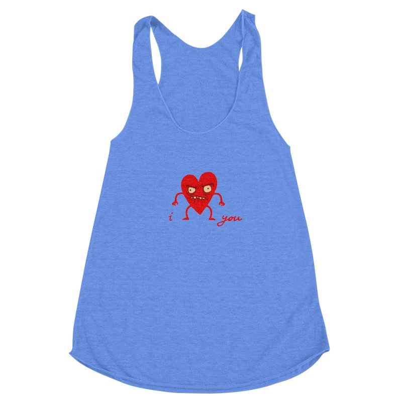 i HEART you Women's Racerback Triblend Tank by My Life is a Patchwork of Regrets