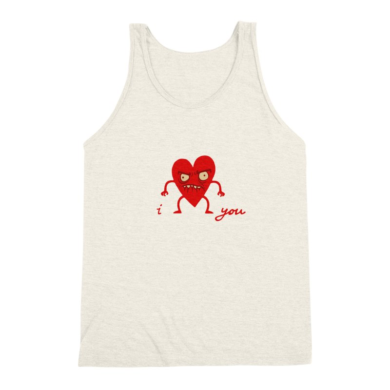 i HEART you Men's Triblend Tank by My Life is a Patchwork of Regrets