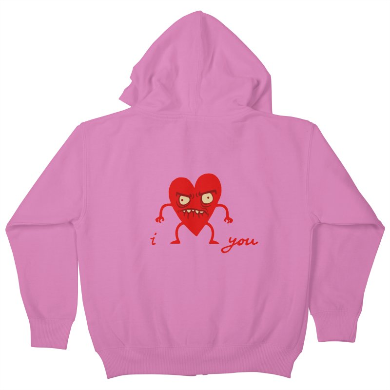 i HEART you Kids Zip-Up Hoody by My Life is a Patchwork of Regrets