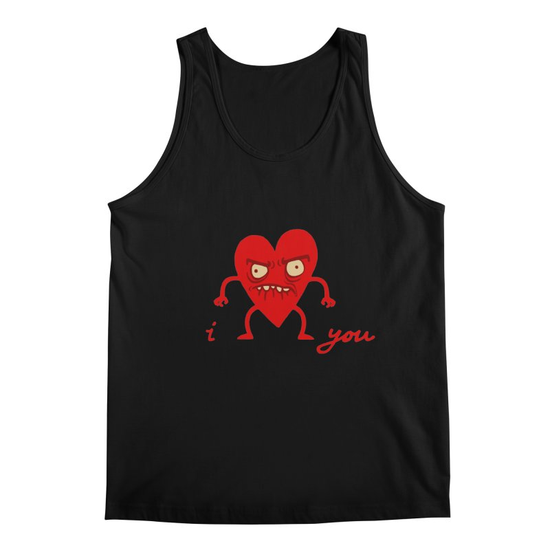 i HEART you Men's Regular Tank by My Life is a Patchwork of Regrets