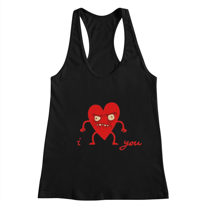 i HEART you Women's Racerback Tank by My Life is a Patchwork of Regrets