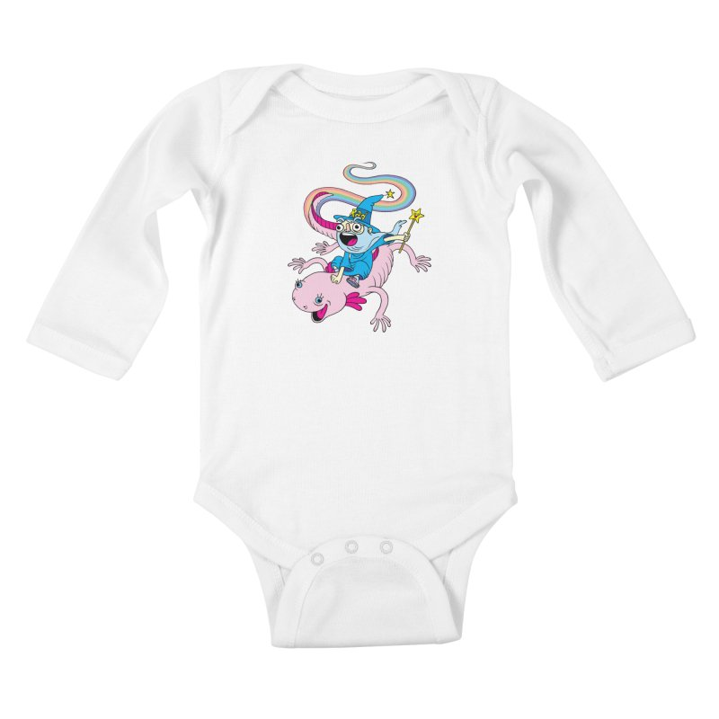 Rad-zor the Sorcerer Kids Baby Longsleeve Bodysuit by My Life is a Patchwork of Regrets