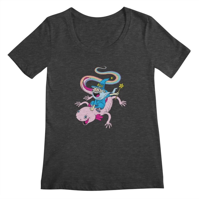 Rad-zor the Sorcerer Women's Scoopneck by My Life is a Patchwork of Regrets