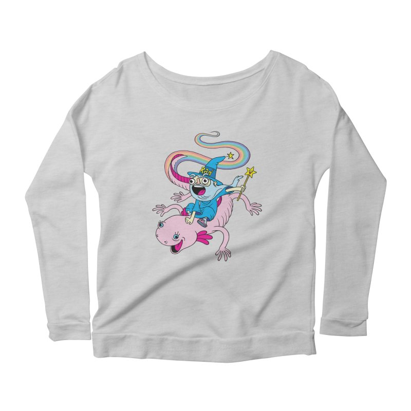 Rad-zor the Sorcerer Women's Longsleeve Scoopneck  by My Life is a Patchwork of Regrets