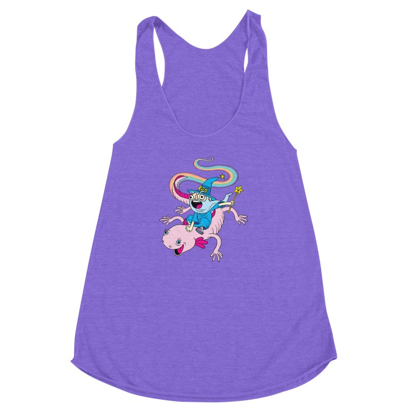 Rad-zor the Sorcerer Women's Racerback Triblend Tank by My Life is a Patchwork of Regrets