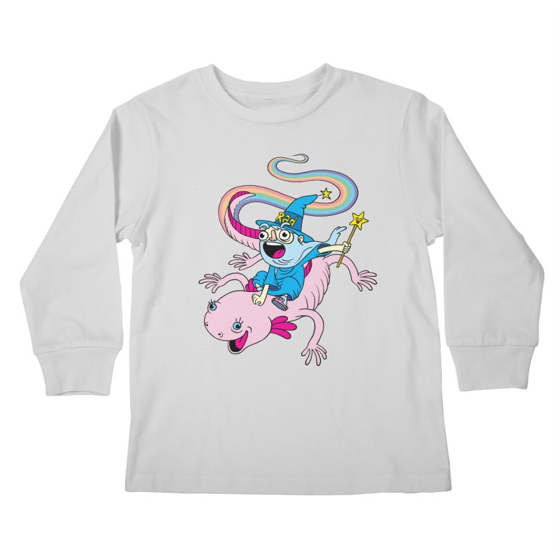 Rad-zor the Sorcerer Kids Longsleeve T-Shirt by My Life is a Patchwork of Regrets