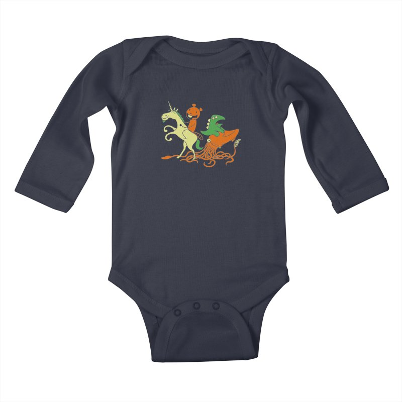 A Shoeful of Trouble Kids Baby Longsleeve Bodysuit by My Life is a Patchwork of Regrets