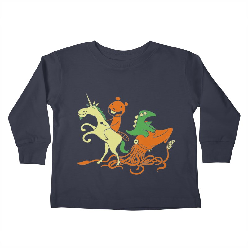 A Shoeful of Trouble Kids Toddler Longsleeve T-Shirt by My Life is a Patchwork of Regrets