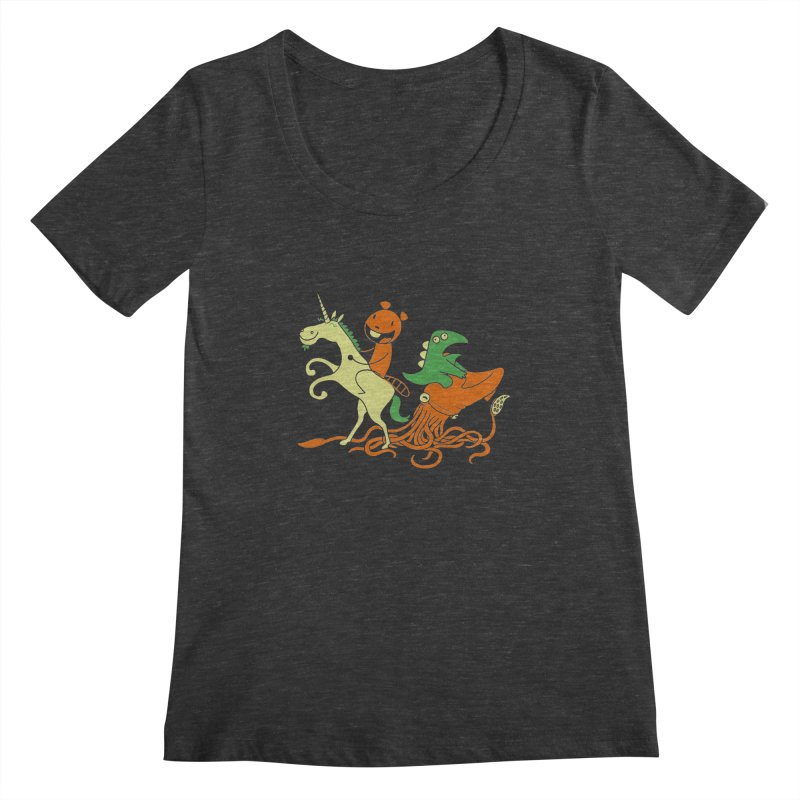A Shoeful of Trouble Women's Scoopneck by My Life is a Patchwork of Regrets