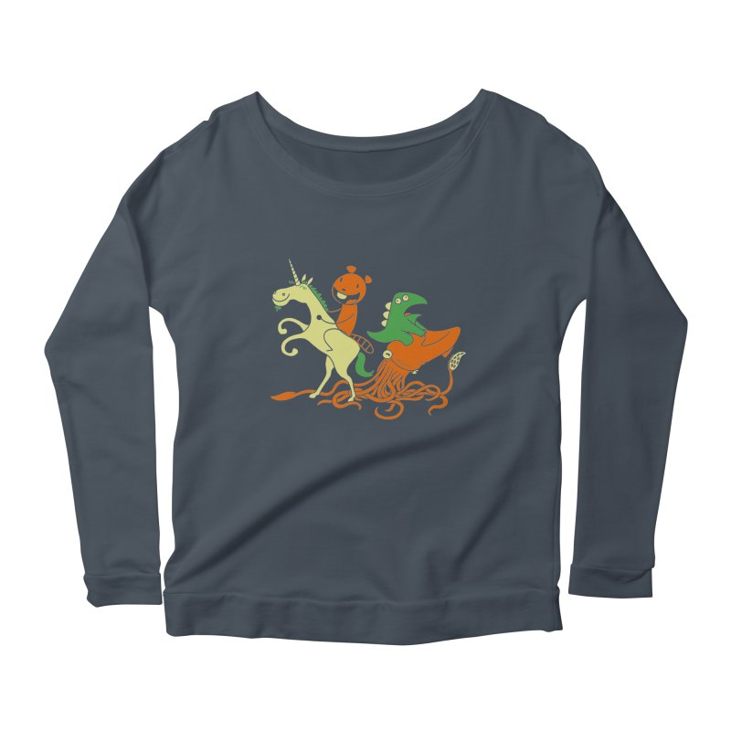A Shoeful of Trouble Women's Longsleeve Scoopneck  by My Life is a Patchwork of Regrets