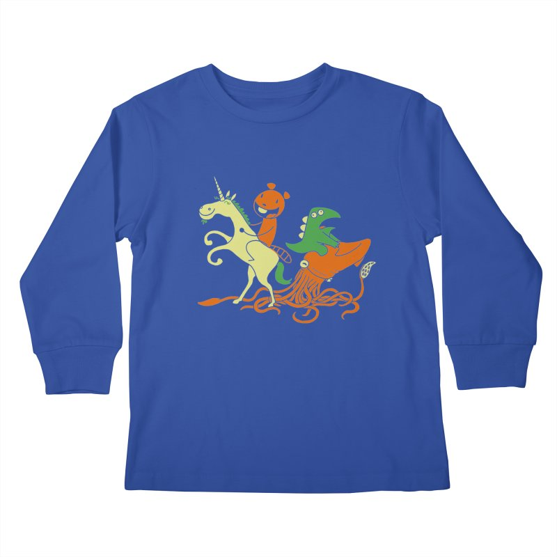 A Shoeful of Trouble Kids Longsleeve T-Shirt by My Life is a Patchwork of Regrets