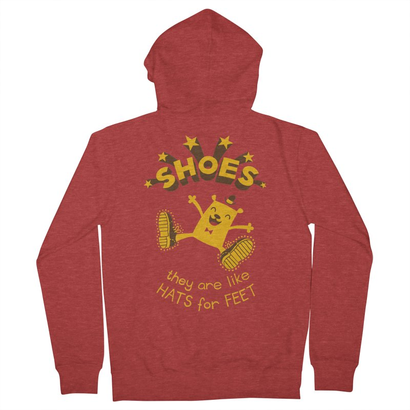 SHOES Men's Zip-Up Hoody by My Life is a Patchwork of Regrets