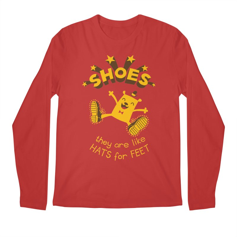 SHOES Men's Regular Longsleeve T-Shirt by My Life is a Patchwork of Regrets
