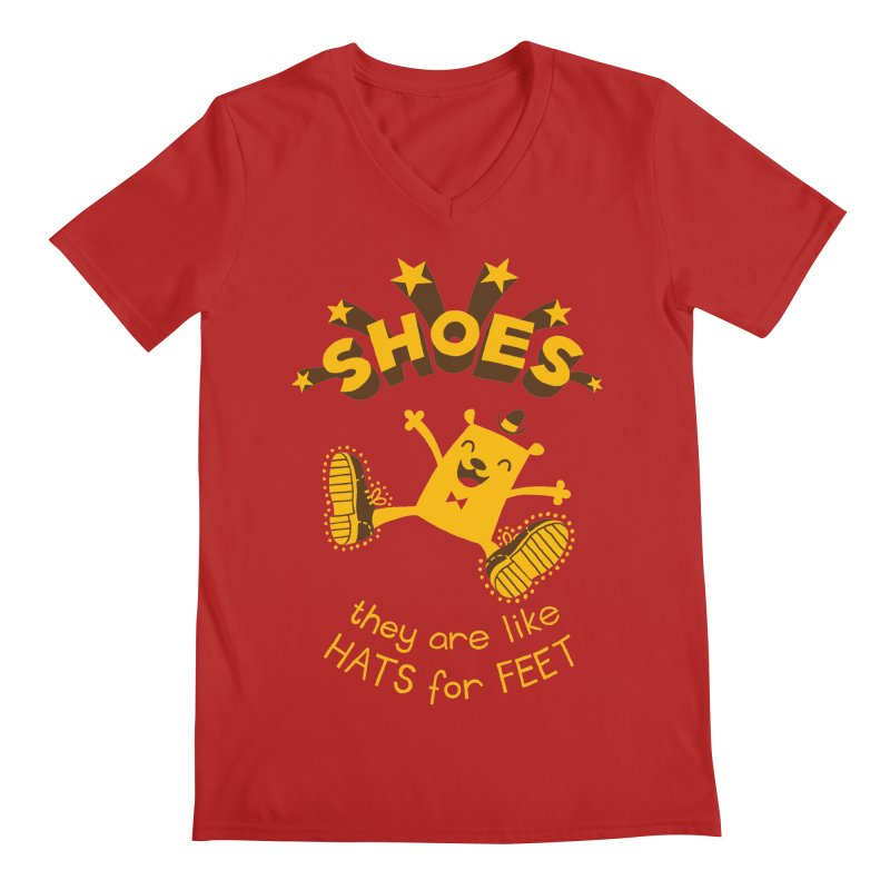 SHOES Men's V-Neck by My Life is a Patchwork of Regrets
