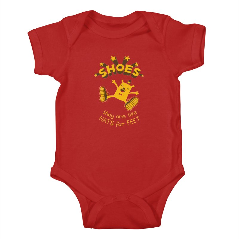 SHOES Kids Baby Bodysuit by My Life is a Patchwork of Regrets