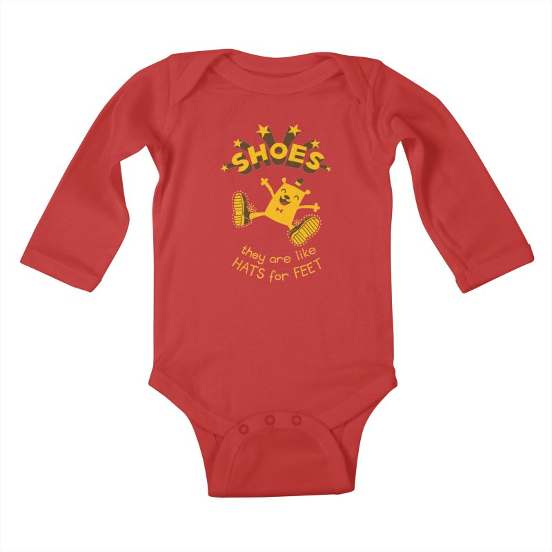 SHOES Kids Baby Longsleeve Bodysuit by My Life is a Patchwork of Regrets