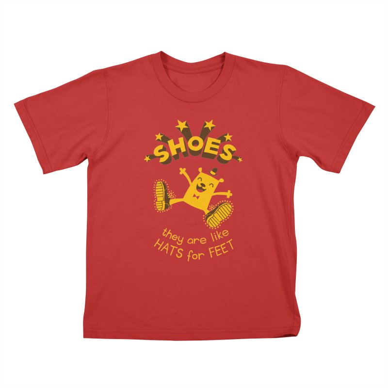 SHOES Kids T-Shirt by My Life is a Patchwork of Regrets