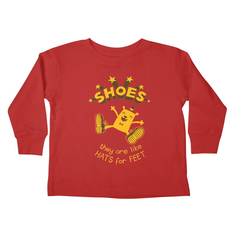 SHOES Kids Toddler Longsleeve T-Shirt by My Life is a Patchwork of Regrets