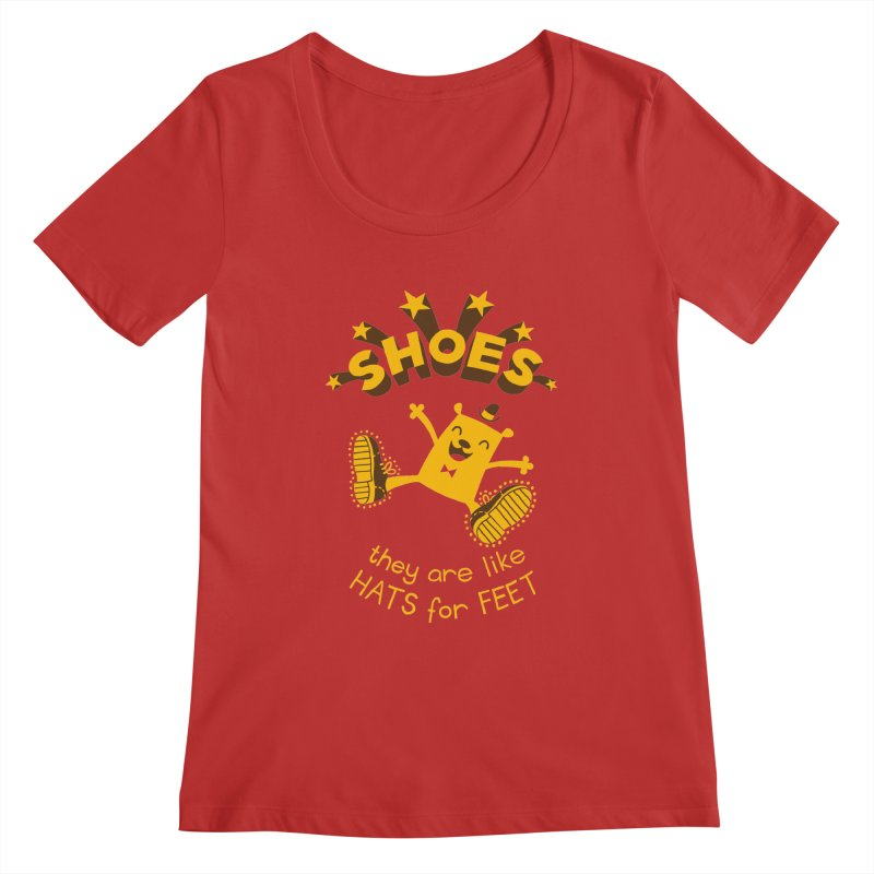 SHOES Women's Regular Scoop Neck by My Life is a Patchwork of Regrets