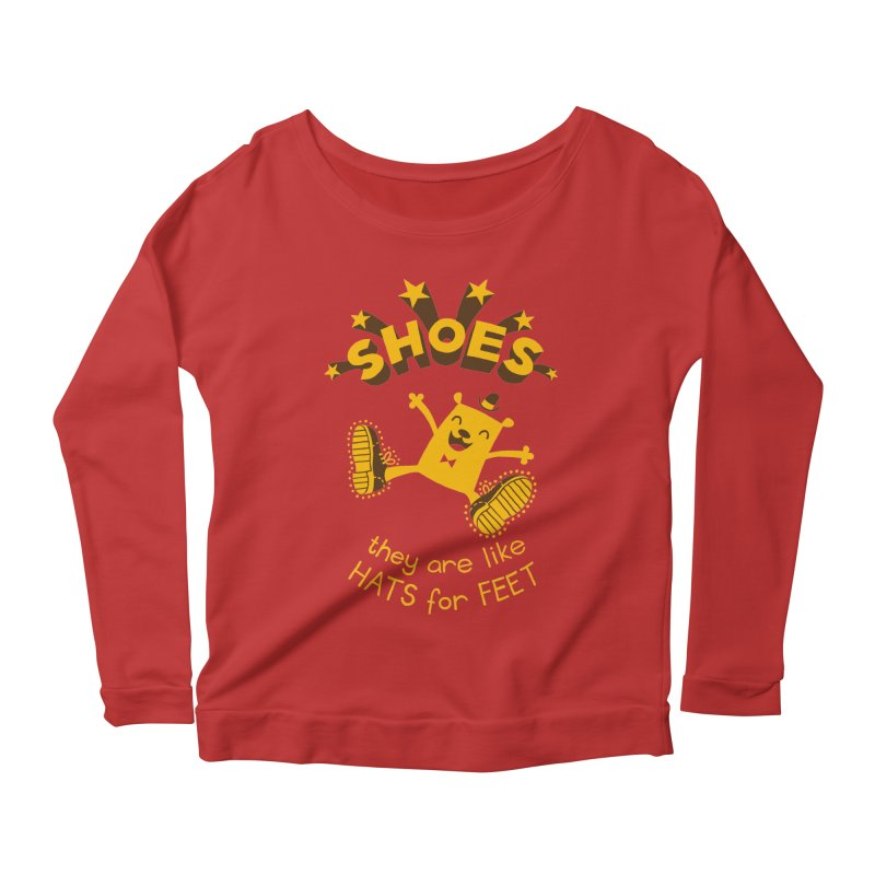 SHOES Women's Longsleeve Scoopneck  by My Life is a Patchwork of Regrets