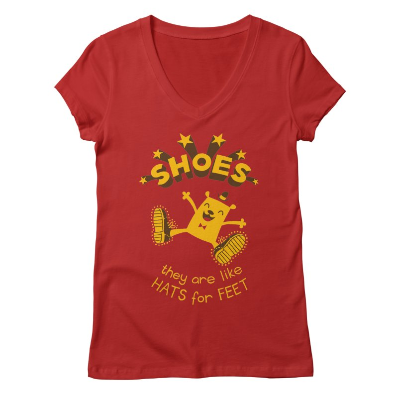 SHOES Women's V-Neck by My Life is a Patchwork of Regrets