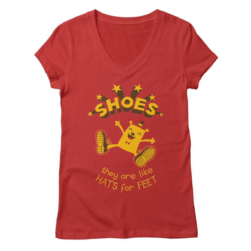 SHOES Women's Regular V-Neck by My Life is a Patchwork of Regrets